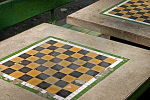 Park Chess Table Royalty Free Stock Image - Image: 319306