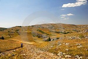 Biker On Mountain Plateau Stock Photo - Image: 3102660