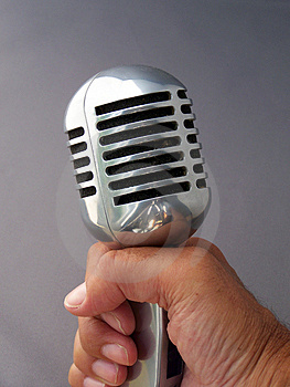 Fifties Mic Royalty Free Stock Photos