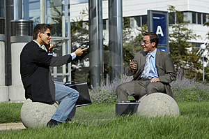 Business Partner Are Joking Stock Images - Image: 3131324