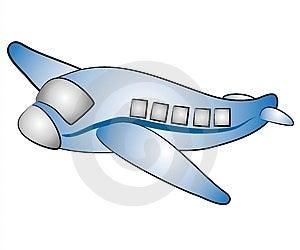 Jednoduchý klip art ilustrácia letiaceho lietadla jet izolované na bielom pozadí.