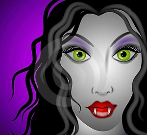Female Vampire Face 2 Royalty Free Stock Photos