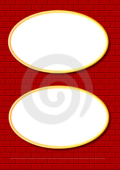 Two Oval Frames Royalty Free Stock Photo - Image: 3132885