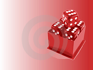 5 Dice With Copyspace Stock Photo - Image: 3133300