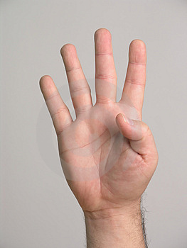 4 Fingers - 2 Royalty Free Stock Photos - Image: 3136958