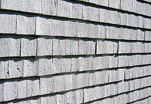 Slant View, Weathered Shinges Royalty Free Stock Images - Image: 3146929