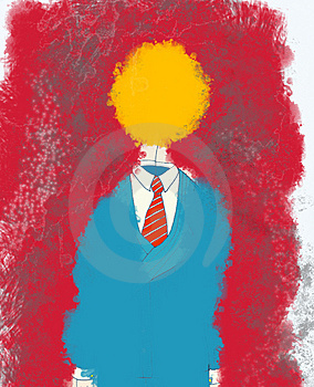 Suit With Yellow Head Royalty Free Stock Photos - Image: 3149008