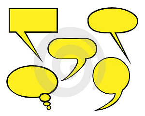 Speech balloons Free Stock Image