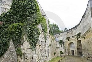 Bottom Of Chateau Brézé Moat Stock Image - Image: 3155051