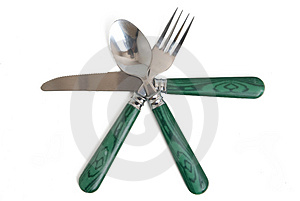 Silverware Set (clipping Path) Royalty Free Stock Photography - Image: 3157417