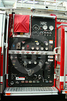 Fire Truck Controls Royalty Free Stock Image - Image: 3162886