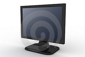 Monitor With Blue Shade Royalty Free Stock Photos - Image: 3163318