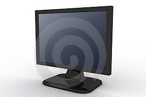 Monitor Met Blauwe Schaduw Royalty-vrije Stock Foto's - Afbeelding: 3163318