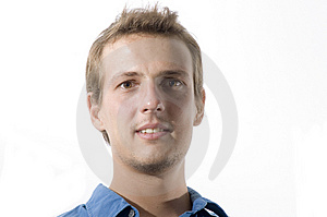 Headshot of a young man Royalty Free Stock Image