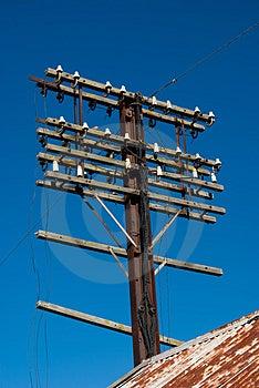 Old Utility Pole Royalty Free Stock Photo - Image: 3171485