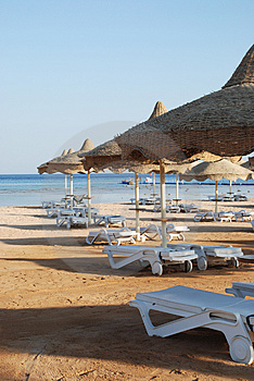 Beach umbrella Free Stock Photography