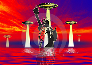 Ufo World Royalty Free Stock Image - Image: 3175936
