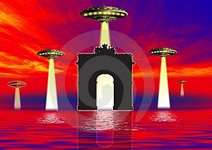 Danger Ufo  Stock Photos - Image: 3175943
