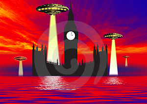 Ufo Danger Royalty Free Stock Image - Image: 3175966