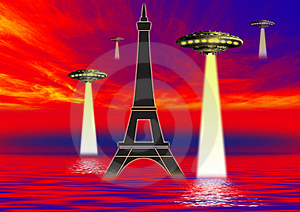 Ufo Science Stock Photo - Image: 3176040