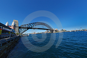 Sydney Harbour Bridge blue sky Stock Photo