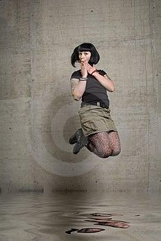 Jumping Woman Royalty Free Stock Image - Image: 3189246