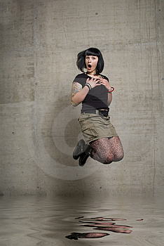 Jumping Woman Royalty Free Stock Photos - Image: 3189248