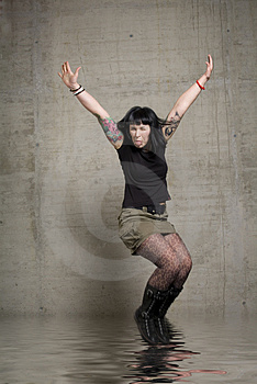 Jumping Woman Royalty Free Stock Photos - Image: 3189268