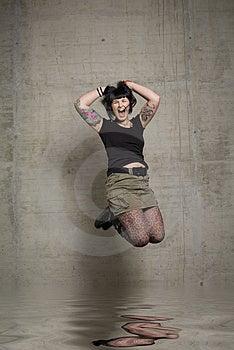 Skokowa Kobieta Zdjęcia Stock - Obraz: 3189273