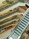 Escalators at shopping mall Royalty Free Stock Photo