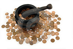 Grinding For Pennies Royalty Free Stock Photos - Image: 3190238