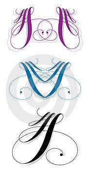 Calligraphic Slå Arkivbilder - Bild: 3195204
