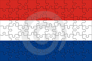 Flag Of The Netherlands Puzzle Royalty Free Stock Photography - Image: 3195957