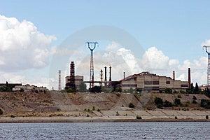 The Factory On  The Volga Coast. Russia Stock Photo - Image: 322760