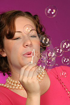 Blowing Bubbles Royalty Free Stock Photos - Image: 324128