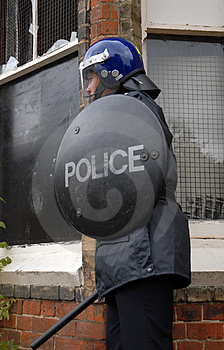 Riot Cop Royalty Free Stock Photos