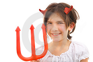 Devil With Tricky Smile Stock Photo - Image: 3202890