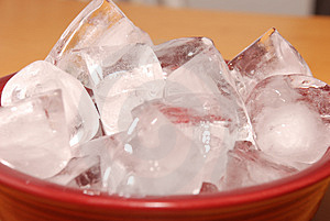 Bowl of Ice Stock Images