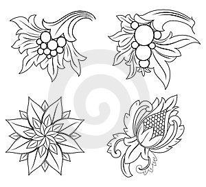 Design Motif Element Royalty Free Stock Image - Image: 3205706