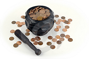 Grinding For Pennies Stock Photography - Image: 3206392