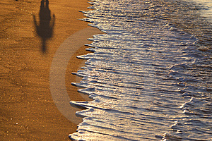 Cień Na Plaży Zdjęcia Stock - Obraz: 3206683