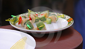 Plate With Snack Royalty Free Stock Photo - Image: 3219235