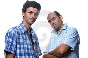 Two stylish men Royalty Free Stock Photography