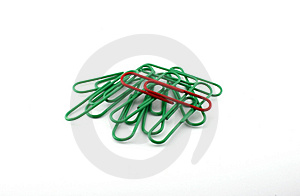 Stock Image - Office paper clips.
