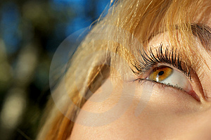 Girl's eye closeup Royalty Free Stock Photo