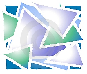 Overlapping Triangle Shapes 2 Stock Image - Image: 3234361