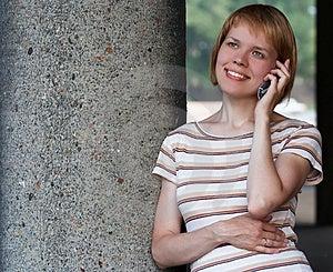 Girl Speak Cell Phone Stock Images - Image: 3244294