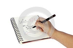 Hand Writing On A Book Royalty Free Stock Photos - Image: 32401178