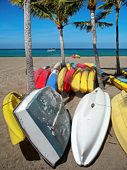 Kayaks Royalty Free Stock Images - Image: 3252929