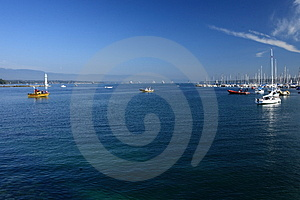 Ships In Leman Lack Royalty Free Stock Image - Image: 3261206